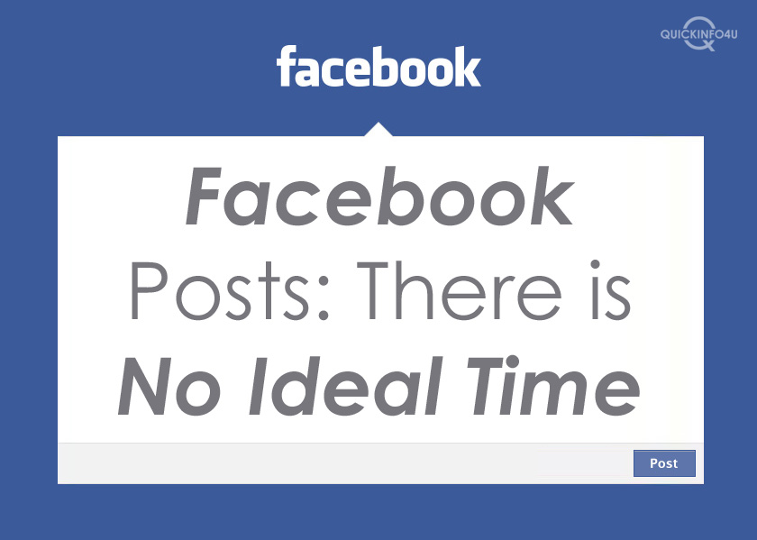Facebook Posts: There is No Ideal Time
