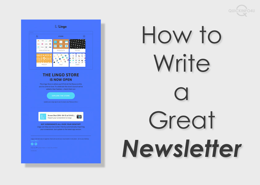 How to Write a Great Newsletter