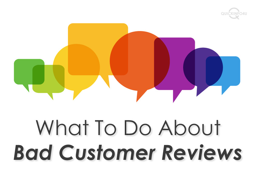 What To Do About Bad Customer Reviews